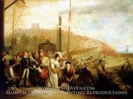 Landing at Dover from the Steam Packet painting reproduction, Michael William Sharp