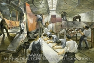 Landing Craft Mechanised painting reproduction, Leslie Cole