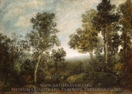Landscape painting reproduction, Ralph Albert Blakelock