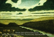 Landscape painting reproduction, Albert Pinkham Ryder