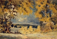 Landscape, Binghamton, New York painting reproduction, Louis Michel Eilshemius