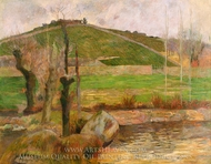 Landscape near Pont-Aven painting reproduction, Paul Gauguin