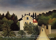 Landscape on the Banks of the Oise, Area of Chaponval by Henri Rousseau