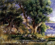 Landscape on the Coast, near Menton by Pierre-Auguste Renoir