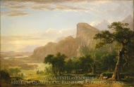 Landscape Scene from Thanatopsis painting reproduction, Asher Brown Durand