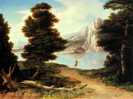 Landscape with a Lake painting reproduction, Washington Allston