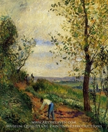 Landscape with a Man Digging painting reproduction, Camille Pissarro
