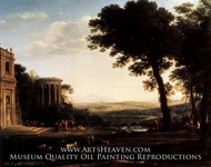 Landscape with a Sacrifice to Apollo by Claude Lorraine