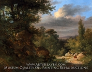Landscape with a Shepherd by French Painter
