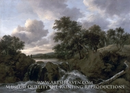 Landscape with a Waterfall by Jacob Van Ruisdael