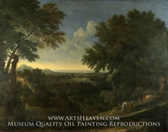 Landscape with Abraham and Isaac by Gaspard Dughet