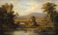 Landscape with Cows Watering in a Stream painting reproduction, Robert S. Duncanson