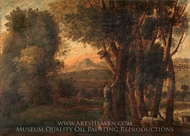 Landscape with Erminia painting reproduction, Claude Lorraine