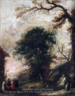 Landscape with Figures painting reproduction, Cecco Bravo