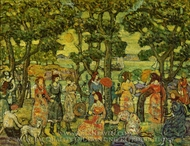 Landscape with Figures painting reproduction, Maurice Prendergast