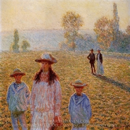 Landscape with Figures, Giverny painting reproduction, Claude Monet