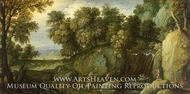 Landscape with Satyrs painting reproduction, Marten Rijckaert