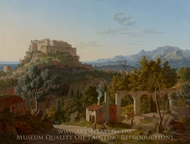 Landscape with the Castle of Massa di Carrara painting reproduction, Leo von Klenze
