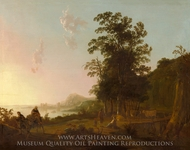 Landscape with the Flight into Egypt painting reproduction, Aelbert Cuyp