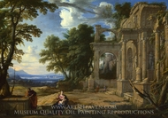 Landscape with the Rest on the Flight into Egypt painting reproduction, Pierre Patel