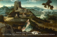 Landscape with the Rest on the Flight into Egypt painting reproduction, Joachim Patinir