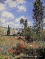Lane in the Poppy Field, Ile Saint-Martin by Claude Monet