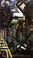 Large Laren Landscape with Windmill by Max Beckmann