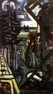 Large Laren Landscape with Windmill painting reproduction, Max Beckmann