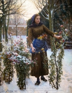 Last Flowers painting reproduction, Jules Breton