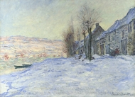 Lavacourt under Snow painting reproduction, Claude Monet