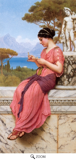 Painting Reproduction of Le Billet Doux, John William Godward