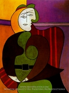 Le Fauteuil Rouge by Pablo Picasso (inspired by)