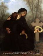 Le Jour des Morts (All Saints' Day) painting reproduction, William Adolphe Bouguereau
