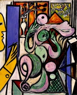 Le Peintre (Composition) painting reproduction, Pablo Picasso (inspired by)