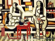 Le Petit Dejeuner painting reproduction, Fernand Leger