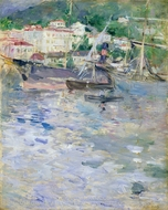 Le Port de Nice painting reproduction, Berthe Morisot