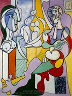Le Sculpteur painting reproduction, Pablo Picasso (inspired by)