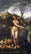 Leda and the Swan painting reproduction, Fernando Yanez