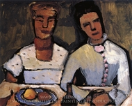 Lee Hoetger and Her Sister painting reproduction, Paula Modersohn-Becker