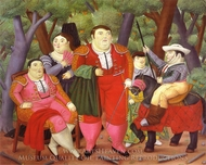 Lefty and His Gang painting reproduction, Fernando Botero