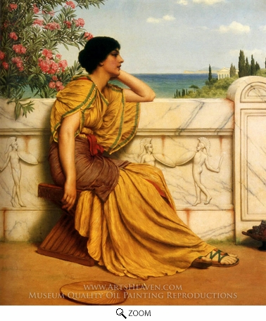 Painting Reproduction of Leisure Hours, John William Godward