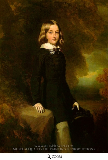 Painting Reproduction of Leopold, Duke of Brabant, Franz Xavier Winterhalter
