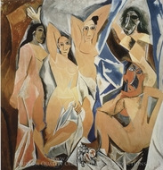 Les Demoiselles d'Avignon painting reproduction, Pablo Picasso (inspired by)