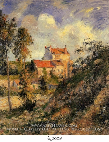 Painting Reproduction of Les Mathurins, Pontoise, Camille Pissarro