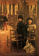 Letter 'L' with Hats painting reproduction, James Tissot