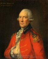 Lieutenant Colonel Paul Pechelle painting reproduction, Thomas Gainsborough