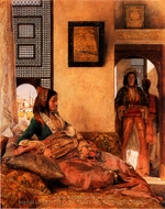 Life in the Harem Cairo painting reproduction, John Frederick Lewis