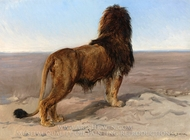 Lion (The Lock Out) painting reproduction, Rosa Bonheur