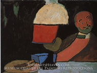 Listening (Portrait of Jawlensky) by Gabriele Munter