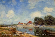 Loing Dam at Saint-Mammes by Alfred Sisley